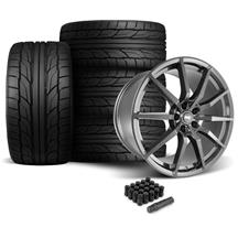 Mustang SVE GT350 Style Wheel & Tire Kit - 20x10  - Gloss Graphite - Staggered NT555 G2 Tires (0...