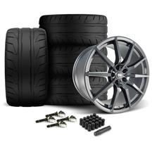Mustang SVE S350 Wheel & Tire Kit - 20x10  - Gloss Graphite - NT05 Tires (15-17)