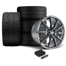 Mustang SVE S350 Wheel & Tire Kit - 20x10  - Gloss Graphite - NT05 Tires (05-14)