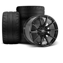 Mustang SVE S350 Wheel Kit - 18x9/10  - Gloss Black - NT05 Tires (94-04)