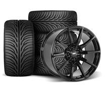 Mustang SVE S350 Wheel Kit - 18x9/10  - Gloss Black - Z II Tires (94-04)