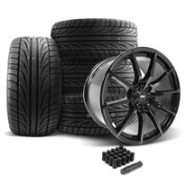 Mustang SVE S350 Wheel & Tire Kit - 19x10  - Gloss Black - Ohtsu Tires (05-14)