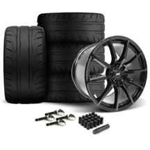 Mustang SVE S350 Wheel & Tire Kit - 19x10/11  - Gloss Black - NT05 Tires (15-17)