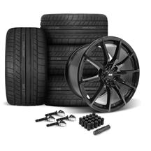 Mustang SVE S350 Wheel & Tire Kit - 19x10/11  - Gloss Black - Cooper Tires (15-19)