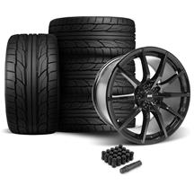 Mustang SVE S350 Wheel & Tire Kit - 19x10/11  - Gloss Black - NT555 G2 Tires (05-14)