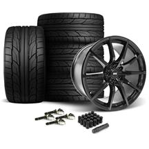 Mustang SVE S350 Wheel & Tire Kit - 19x10/11  - Gloss Black - NT555 G2 Tires (15-19)
