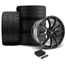 SVE Mustang S350 Wheel & Tire Kit - 19x10/11  - Gloss Black (05-14) Nitto NT05