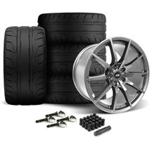 Mustang SVE S350 Wheel & Tire Kit - 19x10/11  - Gloss Graphite - NT05 Tires (15-17)