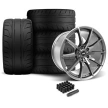 Mustang SVE S350 Wheel & Tire Kit - 19x10/11  - Gloss Graphite - NT05 Tires (05-14)