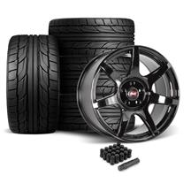Mustang SVE R350 Wheel & Tire Kit - 19x10  - Gloss Black - NT555 G2 Tires (05-14)