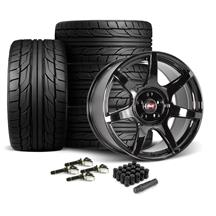 Mustang SVE R350 Wheel & Tire Kit - 19x10  - Gloss Black - NT555 G2 Tires (15-20)