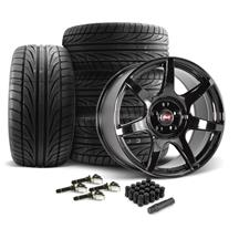 SVE Mustang R350 Wheel & Tire Kit - 19x10  - Gloss Black (15-21) Ohtsu FP8000