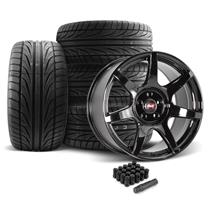 Mustang SVE R350 Wheel & Tire Kit - 19x10  - Gloss Black - Ohtsu Tires (05-14)