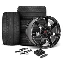 Mustang SVE R350 Wheel & Tire Kit - 19x10/11  - Gloss Black - Cooper Tires (15-20)
