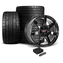 Mustang SVE R350 Wheel & Tire Kit - 19x10/11  - Gloss Black - NT555 G2 Tires (05-14)