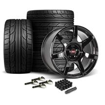 Mustang SVE R350 Wheel & Tire Kit - 19x10/11  - Gloss Black - NT555 G2 Tires (15-19)