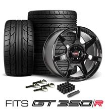 SVE Mustang R350 Wheel & Tire Kit - 19x10/11 - Fits GT350/R  - Gloss Black (15-20) Nitto NT555 G2