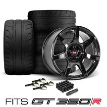 SVE Mustang R350 Wheel & Tire Kit - 19x10/11 Fits GT350/R  - Gloss Black (15-20) Nitto NT05