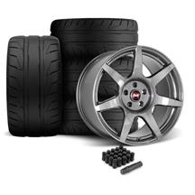Mustang SVE R350 Wheel & Tire Kit - 19x10/11  - Liquid Graphite (05-14)