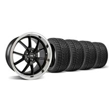 Mustang Staggered FR500 Wheel & Tire Kit - 18X9/10 Black (05-14)