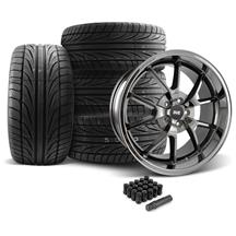 Mustang FR500 Wheel & Tire Kit - 20x8.5/10 Black Chrome (05-14)