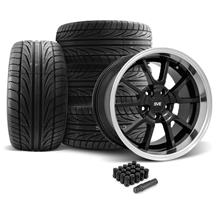 Mustang FR500 Wheel & Tire Kit - 20x8.5/10 Black (05-14)