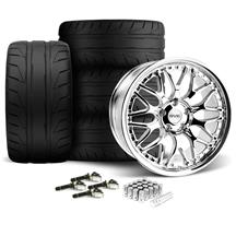Mustang SVE Series 3 Wheel & Tire Kit - 20x8.5/10 Chrome (15-17)