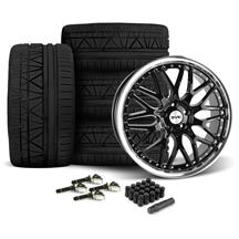Mustang SVE Series 3 Wheel & Nitto Invo Tire Kit - 20x8.5/10 Gloss Black (15-17)