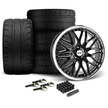 Mustang SVE Series 3 Wheel & Nitto NT05 Tire Kit - 20x8.5/10 Gloss Black (15-17)