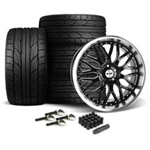 Mustang SVE Series 3 Wheel & Tire Kit - 20x8.5/10 Gloss Black (15-18)