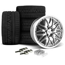Mustang SVE Series 3 Wheel & Tire Kit - 20x8.5/10 Gun Metal (15-17)