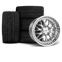 Mustang SVE Series 3 Wheel & Tire Kit - 18x9/10  - Chrome (94-04)