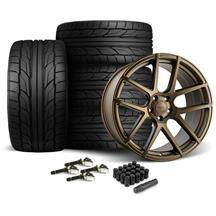 Mustang Velgen VMB5 Wheel & Tire kit - 20x9/10.5  - Bronze - NT555 G2 Tires (15-17)
