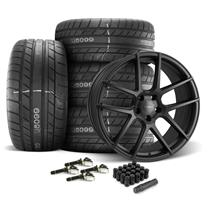 Mustang Velgen VMB5 Wheel & Tire kit - 20x9/10.5  - Satin Black - M/T Street Comp Tires (15-19)