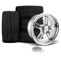 Mustang SVE Series 2 Wheel & Tire Kit - 20X8.5/10 Chrome (05-14)