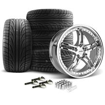 Mustang SVE Series 2 Wheel & Tire Kit - 20x8.5/10 Chrome (15-17)