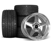 Mustang SVE 2003 Cobra Style Wheel & Tire Kit - 17x9/10.5  - Machined - Deep Dish - M/T Tires (9...