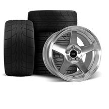 Mustang 2003 Cobra Wheel & Drag Radial Tire Kit  - 17x9/10.5 - Machined - Deep Dish (94-04)