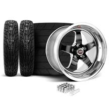 Mustang Weld RT-S Wheel & Tire Kit - 18x5/17x10 Black (05-17)