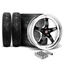 Mustang Weld RT-S Wheel & Tire Kit - 18x5/17x10  - Black (15-17)