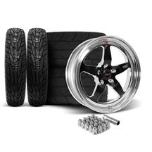 Mustang Weld RT-S Wheel & Tire Kit - 18x5/17x10  - Black (15-20)