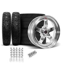 Mustang Weld RT-S S71 Wheel & Tire Kit - 17x5/15x10  - Polished (94-04)
