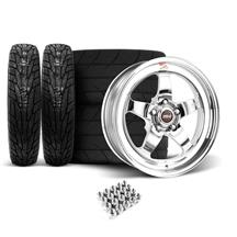 Mustang Weld RT-S Wheel & Tire Kit - 18x5/17x10  - Polished (05-14)