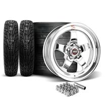 Mustang Weld RT-S Wheel & Tire Kit - 18x5/17x10  - Polished (15-17)