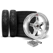 Mustang Weld RT-S Wheel & Tire Kit - 18x5/17x10  - Polished (15-18)