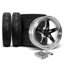 Mustang Weld RT-S Wheel & Tire Kit - 17x5/17x10  - Black (15-20)