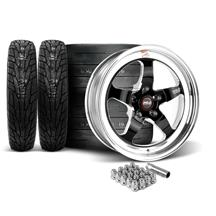 Mustang Weld RT-S Wheel & Tire Kit - 17x5/17x10  - Black (15-17)