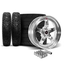 Mustang Weld RT-S Wheel & Tire Kit - 17x5/17x10  - Polished (15-18)