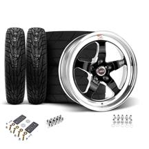 Mustang Weld RT-S Wheel & Tire Kit - 17x5/15x10 Black (05-14)