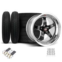 Mustang Weld RT-S Wheel & Tire Kit - 15x4/15x10 Black (05-10)